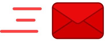 Mail, Umschlag, Briefumschlag, Flach, Design, Rot